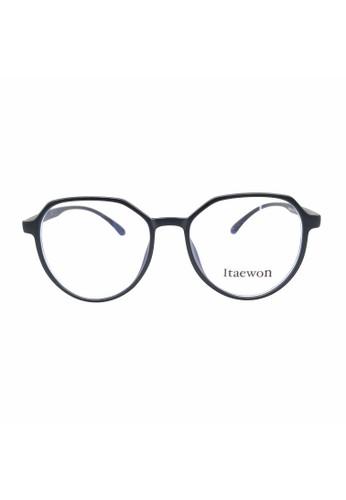 Ibrillen Optical black NEW ITAEWON 29002 Korean Style Anti UV Blue Glasses Matte Black BC04DGL8DAFE51GS_1