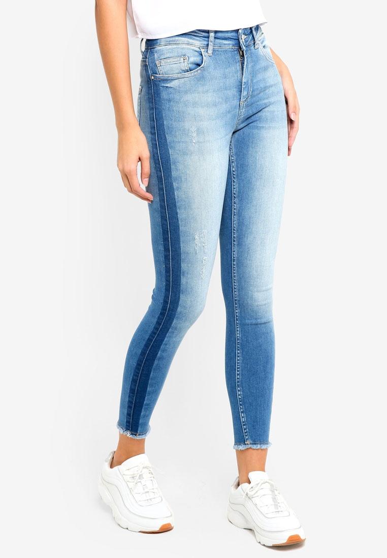 Panel Jeans Rea1822 ONLY Blue Blush Denim Mid Raw Medium qxSztFvn