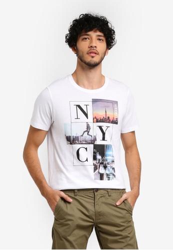 ESPRIT white Short Sleeve T-Shirt 6251BAA527E0EBGS_1