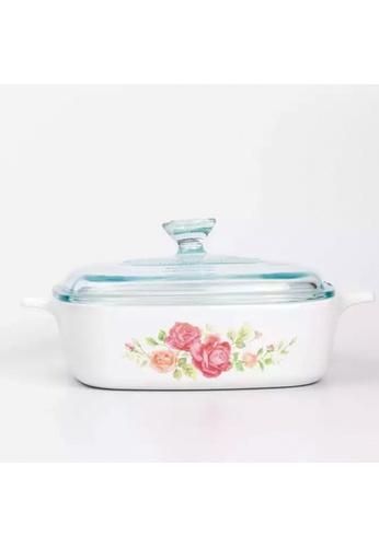 Corningware white Corningware 5L Square Ceramic Casserole with Glass Lid - Rosabelle AD0C9HL87A0853GS_1