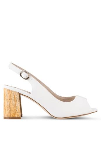 露趾繞踝粗跟高跟鞋, 女esprit台灣網頁鞋, 鞋