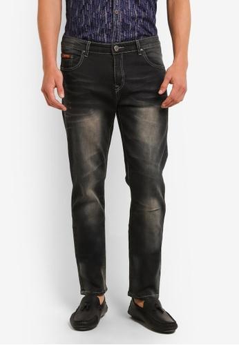 Fidelio 灰色 518 Slim Fit Stretchable Washed Denim Jeans FI826AA0RLX1MY_1