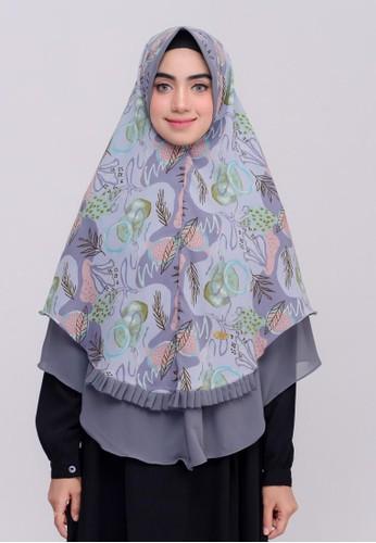 First Hijab grey Amarila Khimar Instan In Grey 00CC9AA06C273DGS_1