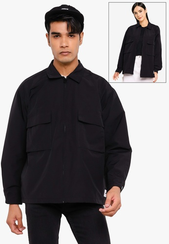 OBEY black Commons Shirt Jacket 2DC24AAC8D41EDGS_1
