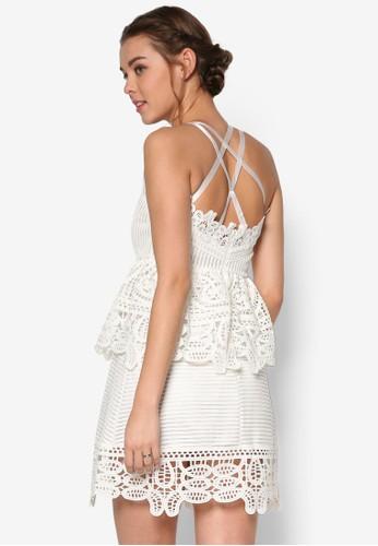 Waldorf 蕾絲多帶及膝洋裝, 服飾,esprit高雄門市 洋裝