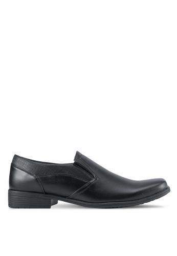 Rocklander black Textured Dress Shoes RO978SH0SMM6MY_1