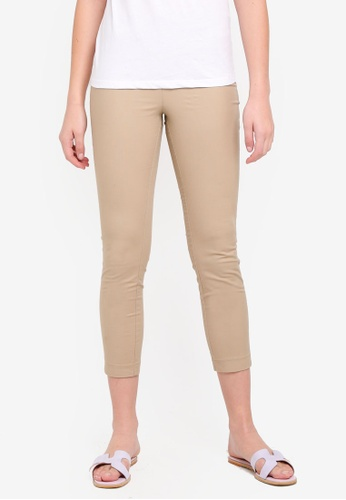 OVS beige Side Zip Pants 1000CAA8FE8250GS_1