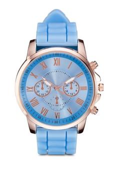 Coloured Silicon Roman Numeric Watch