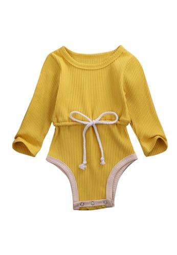 RAISING LITTLE yellow Remi Romper 8E255KA0FE4D64GS_1
