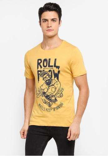 Jack & Jones yellow Jorbooze Short Sleeve Tee JA987AA0T0GBMY_1