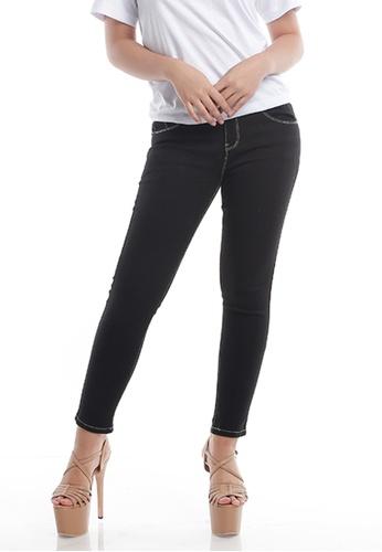 Ninety Nine Point Nine Boutiq black Skinny Denim Long Pants 51FE7AA3635F37GS_1