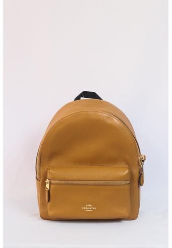 Coach brown Coach Backpack Medium Charlie F30550 (Light Saddle/Light Gold) 9B405AC77B5AACGS_1