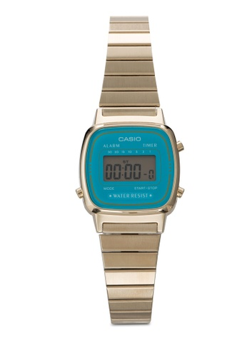 97318fdcd Casio gold Casio Women's Gold Stainless-Steel Quartz Watch with Digital  Dial CA843AC30JOFMY_1