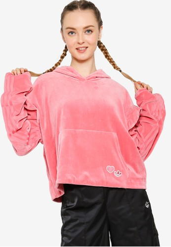 ADIDAS pink velour hoodie 635A0AA7CB1EB6GS_1