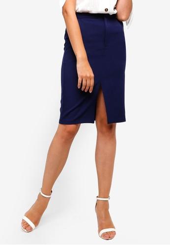 6a190ca02d2e51 Buy ZALORA Pencil Skirt With Slit Online on ZALORA Singapore