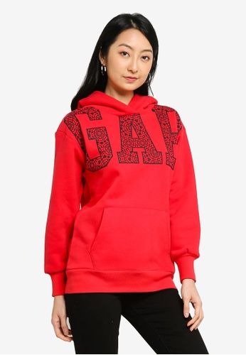 GAP red CNY Pullover Hoodie E746AAA74EA0AAGS_1