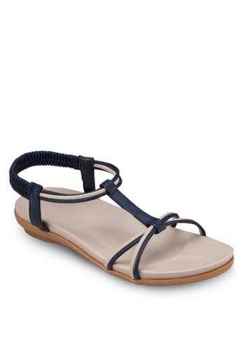 T 字帶esprit 香港繞踝涼鞋, 女鞋, 涼鞋