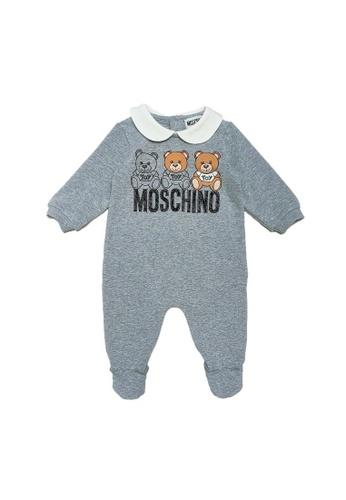 MOSCHINO BABY KID TEEN grey MOSCHINO BABY ROMPER 51595KAEBFA813GS_1