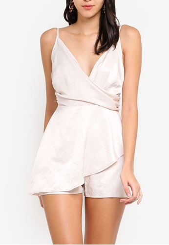 593715ef5995 Buy MISSGUIDED Wrap Front Playsuit Online on ZALORA Singapore
