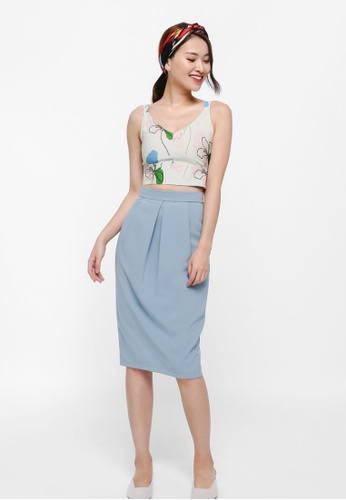 Love, Bonito white Oriana Printed Crop Top 312C4AABAE0848GS_1