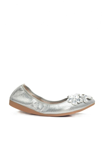 Twenty Eight Shoes silver Comfort Rhinestone Flare Ballerinas VL6281 45941SH4B938E1GS_1
