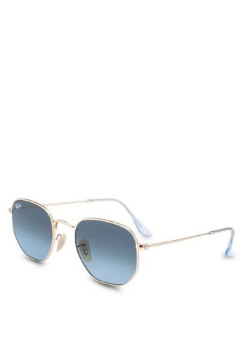 Ray-Ban gold Ray-Ban Hexagonal Flat Lenses RB3548N Sunglasses 88671GL98AB5F7GS_1