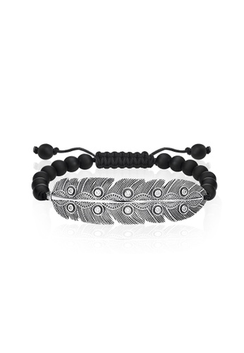 "Thomas Sabo black Bracelet ""Ethnic Feather"" TH376AC0GMS6SG_1"
