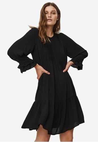 Vero Moda black Zigga Frill Mini Dress 8A3BEAA5495DE8GS_1