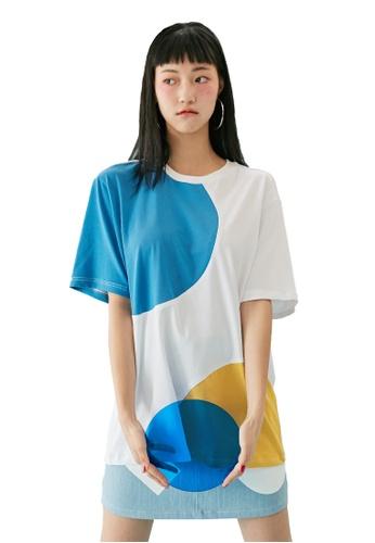 Bonnie&Blanche white Spinnin Overfit T-shirt BO457AA0GIIDSG_1