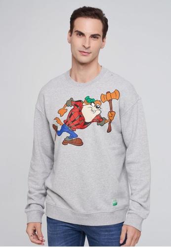 """United Colors of Benetton grey """"Looney Tunes"""" Sweatshirt 363A9AA82CAAB5GS_1"""