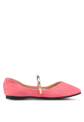 Spiffy pink Faux Suede Ballerinas 0F8BBSH18907BBGS_1