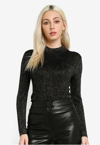 Pepe Jeans black Crystal Metallic Knit Jumper D9521AA1E41768GS_1