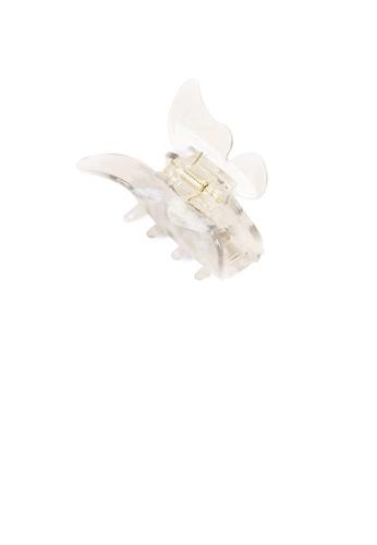Glamorousky silver Fashion Temperament White Butterfly Hair Claw 0F041AC0E1BAE5GS_1