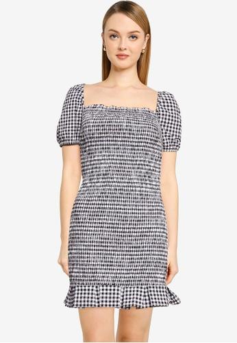 Guess black and white Aida Dress 6D5AEAA92890DDGS_1