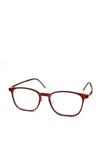 Peculiar and Odd red Optical Square 1769 Lightweight TR-100 Multi-coated Lens Computer Eyeglass 750B5GLD7129D8GS_1