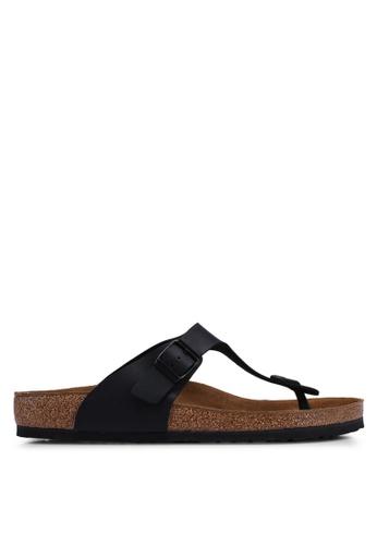 Birkenstock black Gizeh Birko-Flor Sandals 7AD79SH8C8C2C9GS_1