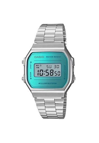 Casio silver Casio Vintage Digital Watch (A168WEM-2D) 53123AC365A2D0GS_1