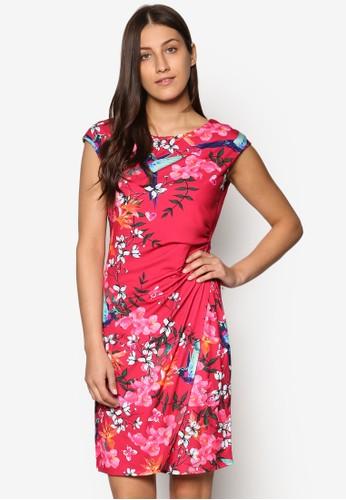 Pink Floralesprit地址 Wrap Dress, 服飾, Love Your Curves