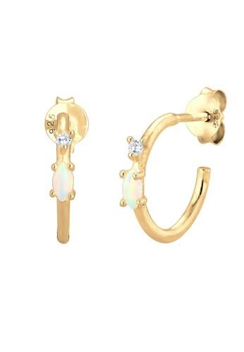 Elli Germany gold Perhiasan Wanita Perak Asli - Silver Anting Creole Zirconi Gold Plated Emas Emas 7F3B9AC4957185GS_1