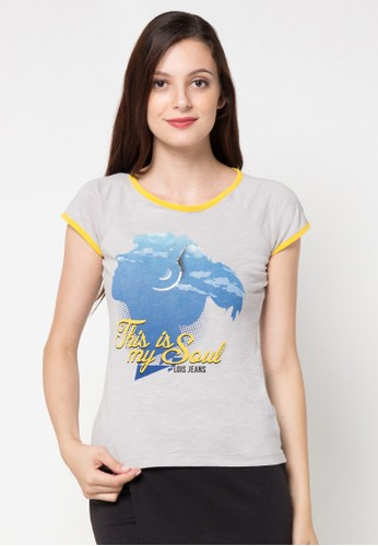 Lois Jeans grey Short Sleeve T-Shirt LO391AA38ITTID_1