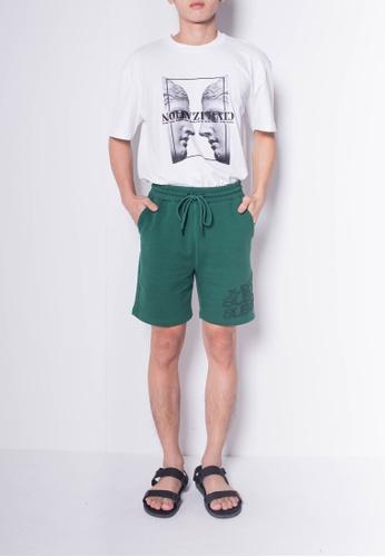 SUB green Men Knit Short Jogger 690FFAA8936A1FGS_1