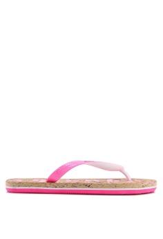 90571f6d2 Superdry pink Glitter Cork Flip Flops 56F63SH59B4583GS 1