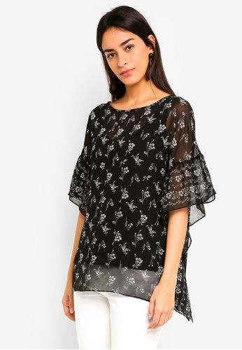 Max Studio black Woven Kimono Top A40C1AA8A1D2D9GS_1