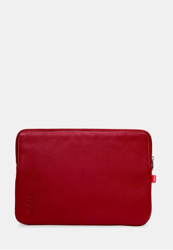 toffee red Leather Sleeve 11inch, Red TO318AC0F6GBSG_1