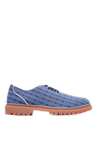 Life8 blue Life8xDaniel Wong Thorns Denim Casual Shoes-09276-Blue LI283SH98JVLSG_1