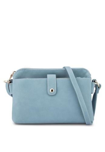 Unisa blue Vintage Sling Bag UN821AC66FGBMY_1