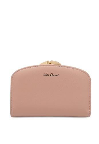 Wild Channel pink Women's Bi Fold Wallet 7F7E0AC5508206GS_1