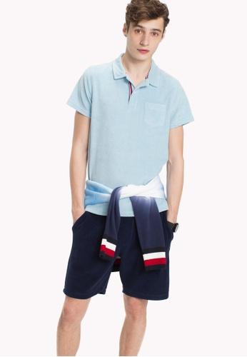 f7320aa4 Buy Tommy Hilfiger TOWELLING SLIM POLO Online | ZALORA Malaysia