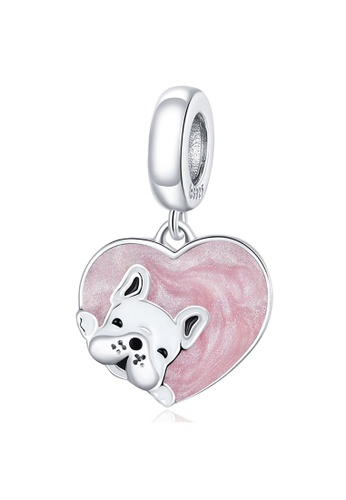 925 Signature 925 SIGNATURE Solid 925 Sterling Silver Puppy Heart Love Waiting For You Pandora Inspired Charm B27F6AC3DFC016GS_1