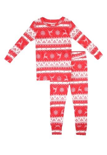 Gap red Festive Pyjama Set D6551KAAA7B809GS_1